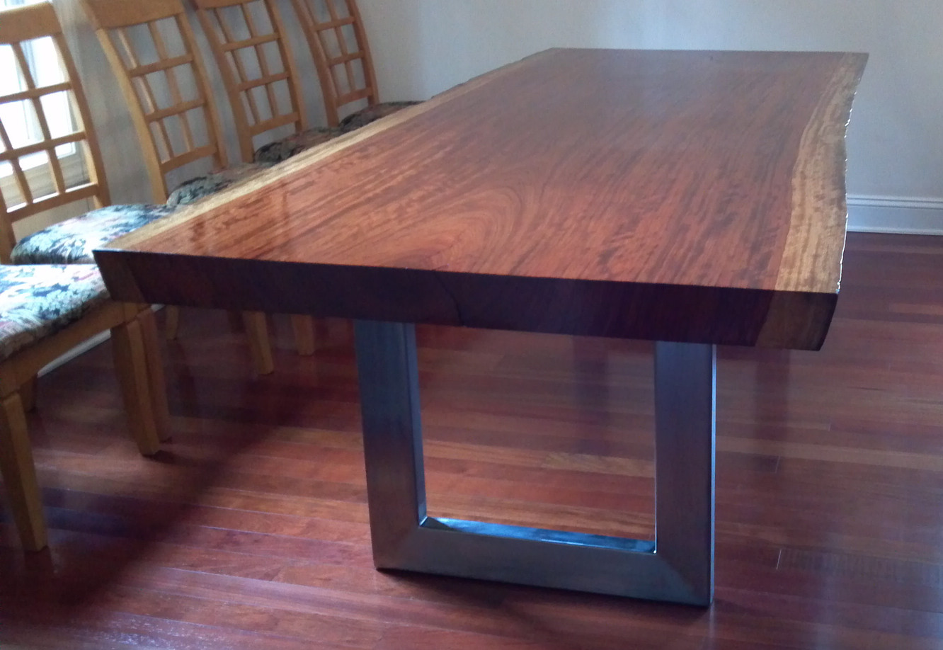 Another custom dining table | snarfed.org
